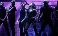 Ariana Grande performs at the BOK Center