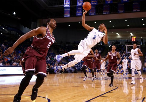 TU No. Little Rock No. during the men's basketball game at the TU Reynolds Center in Tulsa, Okla., taken on November 28, 2015. JAMES GIBBARD/Tulsa World